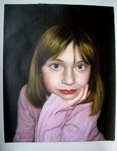 sample oil painting, child portrait, baby portrait, sample portrait painting from photo - 35