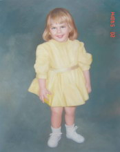 sample oil painting, child portrait, baby portrait, sample portrait painting from photo - 36