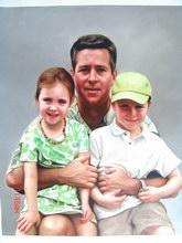 sample oil painting, Family portrait, sample portrait painting from photo - 52