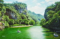 sample oil painting, landscape portrait, sample portrait painting from photo - 77