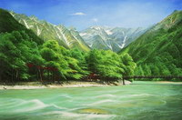 sample oil painting, landscape portrait, sample portrait painting from photo - 78