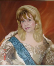 sample oil painting, magic portrait, sample portrait painting from photo - 87