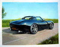 sample oil painting, car portrait, sample portrait painting from photo - 49
