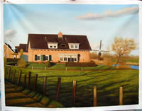sample oil painting, house portrait, sample portrait painting from photo - 76