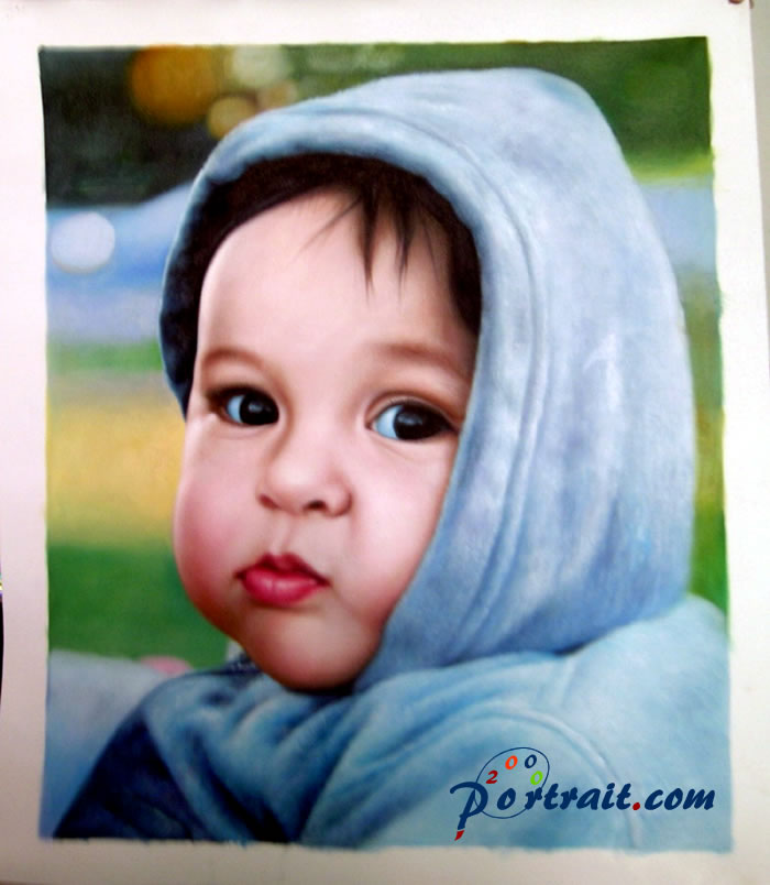 Sample portrait from photo, sample paintings - digital photo