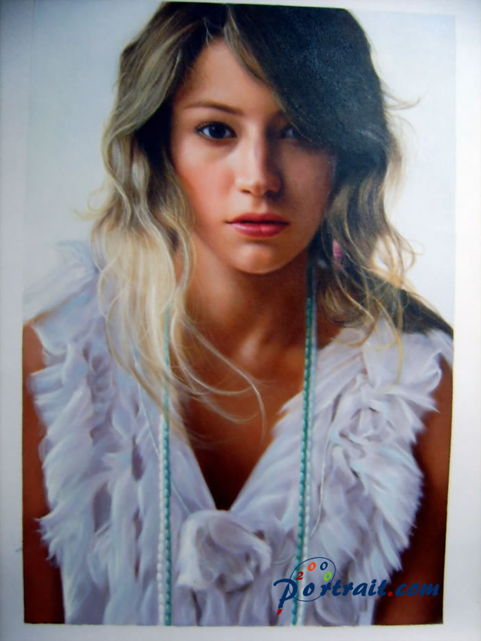 Sample portrait from photo, sample paintings - oil painting
