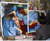 oil painting studio, oil painting supplier, oil painting factory 4